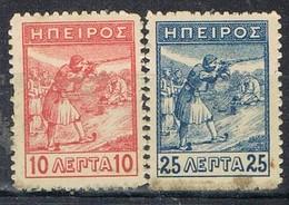 Serie Completa EPIRO (territorios Grecia), Yvert Num 5 Y 6 º/* - North Epirus