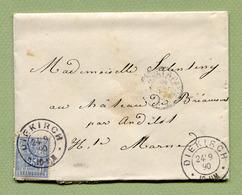 DIEKIRCH  1890  Pour  ANDELOT  (TP N° 54) - 1882 Allégorie