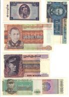 Myanmar Lot Set 6 Banknotes UNC .C2. - Myanmar