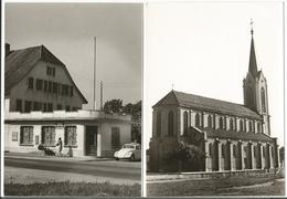 Suisse, La Tour De Trême FR, Bureau De Poste, Voiture VW, Photo Format 13x18 (2x 223) - Lieux