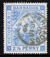 BARBADOS 1897 -  From Set Used - Barbados (1966-...)