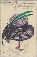 CPA ROBERTY Style Sager Art Nouveau Circulé Sans Numéro Ni éditeur Mode Chapeau érotisme Femme Girl Women - Robert