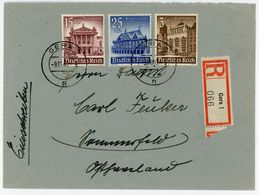Nr. 758, 757 + 751 Recobrief Aus Gera Nach Sommerfeld - Briefe U. Dokumente