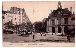 1975 - Paris ( XXe ) -La Mairie Et L'Avenue Gambetta - L.L. - N°1729 - - Arrondissement: 20