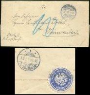 11285 DR Dienstbrief + Siegelmarke Fürstenberg 1909 - Deutschland