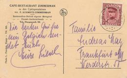 ZZ789 - CANTONS DE L' EST - Carte-Vue TP Képi HERGENRATH - Pub. Café Restaurant Zimmerman - Andere