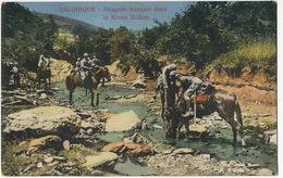 Regiment De Dragons Français Dans Le Krusa Balkan Pres De Salonique Grece Guerre 1914 - Regimenten