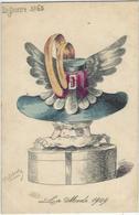CPA ROBERTY Style Sager Art Nouveau écrite Sans éditeur Mode Chapeau érotisme Femme Girl Women - Robert