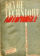 REVUE TECHNIQUE AUTOMOBILE - Septembre 1951  - PRIMA - NOVA - VIVA  (voir Sommaire) - Auto
