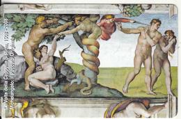 VATICAN - Il Peccato Originale, Painting/Michelangelo(160), Tirage 6000, Exp.date 31/05/10, Mint - Vaticano