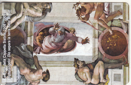 VATICAN - Dio Separa La Terra Dalle Acque, Painting/Michelangelo(159), Tirage 6000, Exp.date 31/05/10, Mint - Vaticano