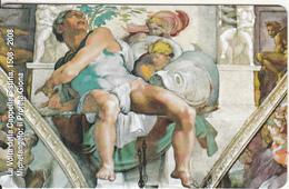 VATICAN - Il Profeta Giona, Painting/Michelangelo(158), Tirage 6000, Exp.date 31/05/10, Mint - Vaticano
