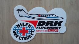 Aufkleber Mit Werbung Für Die DRK Flugrettung (Deutschland) - Aufkleber