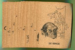 Les 12 Signes Du ZODIAQUE CHINOIS  - Lot De 12 Cartes Neuves En Liège - Postcards