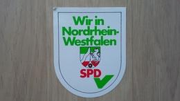 Aufkleber Mit Parteien-Werbung Aus Deutschland (SPD In Nordrhein-Westfalen) - Aufkleber