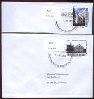 Biber Post, 2 Gelaufene FDC 0,48 € Nikolaikirche Magedeburg V. 15.09.2014 #1433 - Private & Local Mails