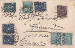 DR Brief Mif Minr.3x 160,170,207,3x 228 M.Gladbach 9.12.22 Ge. Nach Holland - Deutschland