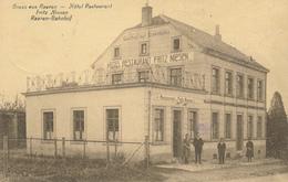 ZZ794 - CANTONS DE L' EST - Carte-Vue Gruss Aus RAEREN - Hotel Restaurant Fritz Niesen Raeren Bahnhof - Animée - Raeren