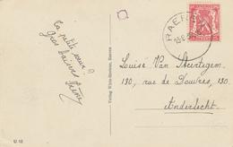 ZZ796 - CANTONS DE L' EST - Carte-Vue RAEREN - Burg - TP Petit Sceau RAEREN 1938 - Raeren