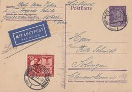 DR Ganzsache Luftpost Zfr. Minr.863 Kolberg 9.12.43 - Briefe U. Dokumente