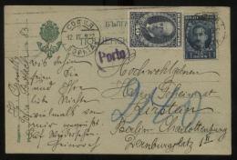 S1371 Bulgarien, Postkarte , Taxe,gebraucht Sofia - Berlin 1922, Bedarfserhaltung. - 1909-45 Kingdom