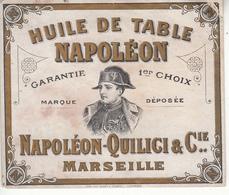Etiquette  HUILE DE TABLE  NAPOLÉON    QUILICI  & Cie - Labels