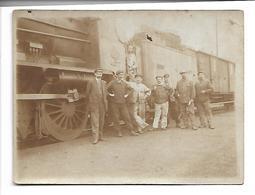 Ancienne Carte Photo. Train Locomotive Cheminots Nord 4.177. - Cartes