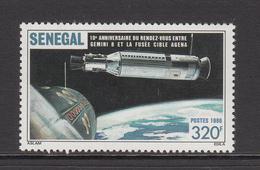 1987 Senegal Space Agena Gemini Link Up Complete Set Of 1 MNH - Senegal (1960-...)