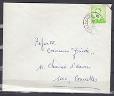 Brief Van Trazegnies Naar Bruxelles - 1953-1972 Lunettes