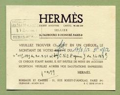 HERMES  1952 - Visiting Cards