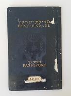 Judaica Jewish Couple Israel Travel Document Passport Reisepass Visa's 1958 Judaika - Historical Documents