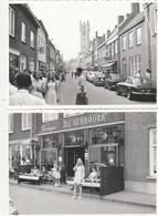 """2 Foto's ,  Oostburg , Sluis ; Stadhuis + Café Restaurant """" DE EENHOORN """" - Sluis"""