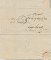 ZZ799 - Lettre Précurseur LOUVAIN 1832 + LEUVEN FRANCO , Tous Deux En Bleu , Vers TURNHOUT - Poste Militaire - 1830-1849 (Belgique Indépendante)