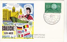 62  BOULOGNE SUR MER  - Porte De L'Europe  -   CPSM Coul  9x14 TBE 1961 Marque Postale Fêtes Du Jumelage - Boulogne Sur Mer