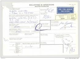 Bulletin D'Expédition - Italie - Cachets Et Vignette TRIESTE - 1981 - Timbres-Poste ITALIA - Par Avion - 1946-.. République