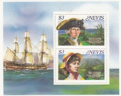 ST KITTS ET NEVIS -  BLOC 200TH ANNIVERSARY MARIAGE CAPTAIN NELSON TO FRANCES NISBET  -  MNH** / 1 - St.Kitts And Nevis ( 1983-...)