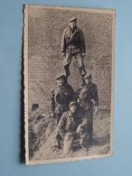 4 Foto's : Soldaat / Soldier / Soldat Milicien ( +/- 1957 / 61 ) ( Formaat PK / CP - Foto ?? ) ! - Guerre, Militaire