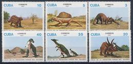 MTDR-BK1-425-2 MINT ¤ CUBA 1987 6w In Serie ¤ DINOSAURS - PREHISTORICS - PRÉHISTORIQUES - DINO'S - PREHISTORIE - Prehistorics