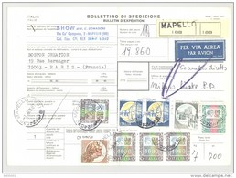 Bulletin D'Expédition - Italie - Cachets Et Vignette MAPELLO - 1981 - Timbres-Poste ITALIA - Tampon SHOW - 1946-.. République