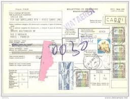 Bulletin D'Expédition - Italie - Cachets Et Vignette CARPI - 1981 - Griffe VIA AEREA - Timbres-Poste ITALIA - 1946-.. République