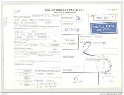 Bulletin D'Expédition - Italie - Cachets Et Vignette PRATO (Succursale 7) - 1981 - Tampon PIERRATTI & CIE - 1946-.. République