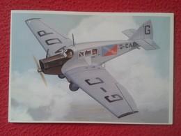 POSTAL POST CARD CARTE POSTALE PLANE AIRPLANE AVIÓN PLANES AVIONES JUNKERS F 13 AIRCRAFT 1910s VER FOTO/S Y DESCRIPCIÓN - Airplanes