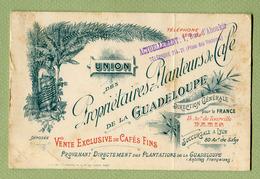 """"""" CAFE DE LA GUADELOUPE """" à PARIS - Visiting Cards"""