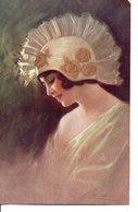 Illustrée  Signée GUERZONI : Femme Au Casque D'or - Guerinoni