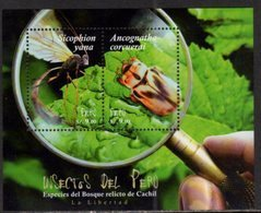 PERU, 2017, MNH, INSECTS, BEETLES, FOREST INSECTS, SHEETLET - Insects