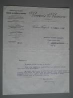 FACTURE - 1933 - VERRERIE DE VIERZON - France