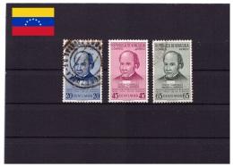 Venezuela 1954 - Obliterè - Célébrités - Michel Nr. 1078-1080 (ven061) - Venezuela
