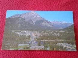 BONITA ANTIGUA POSTAL DE CANADÁ CANADIAN ROCKIES BANFF WITH CASCADE MONTAIN POST CARD CARTE POSTALE VER FOTO/S Y DESCRIP - Canadá