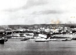 Curaçao Bombardement De La Rafinerie Par Les Sous Marins Allemands Ancienne Photo De Presse 1942 - War, Military