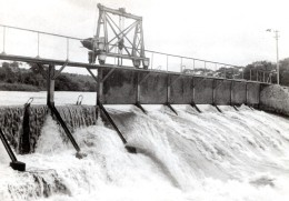 Allemagne? Barrage Temporaire? Riviere Ancienne Photo De Presse 1940's - Photographs
